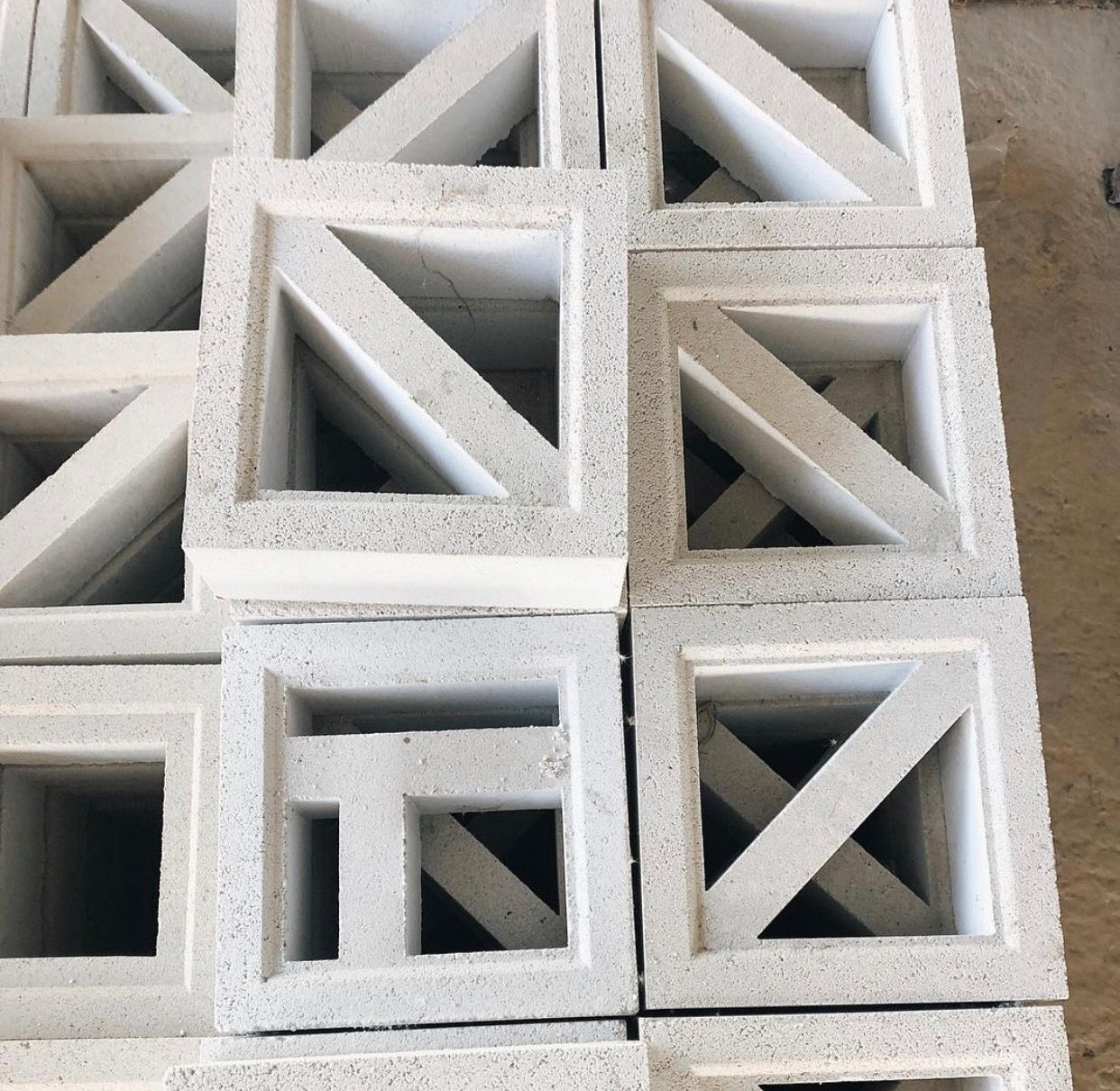 These Stacks Of Modern Breeze Blocks Are Giving Us Major Inspo Introducing The New Trestles Range High Breeze Blocks Breeze Block Wall Concrete Blocks