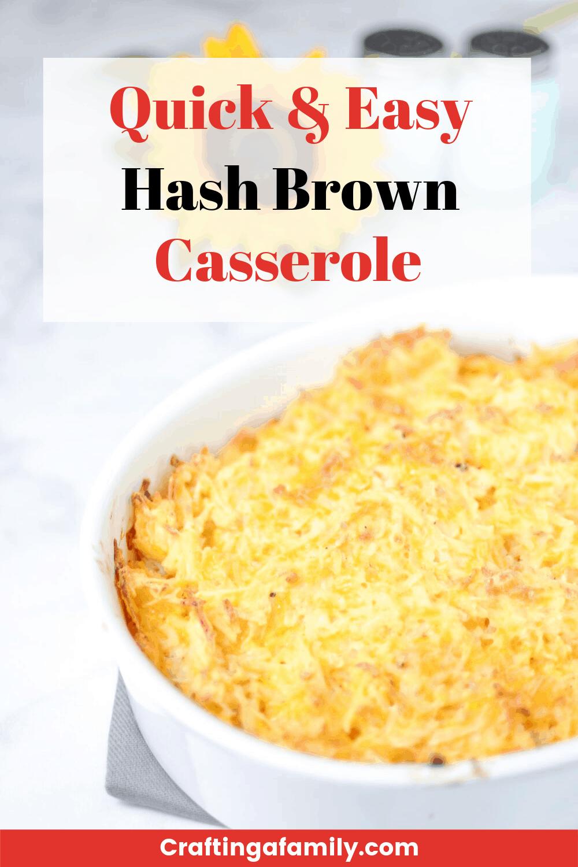 Cheesy Hash Brown Potato Bake Casserole Recipe ~ Crafting a Family