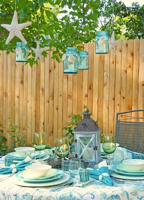 Beach Theme Dinner Party For The Home With Images Outdoor