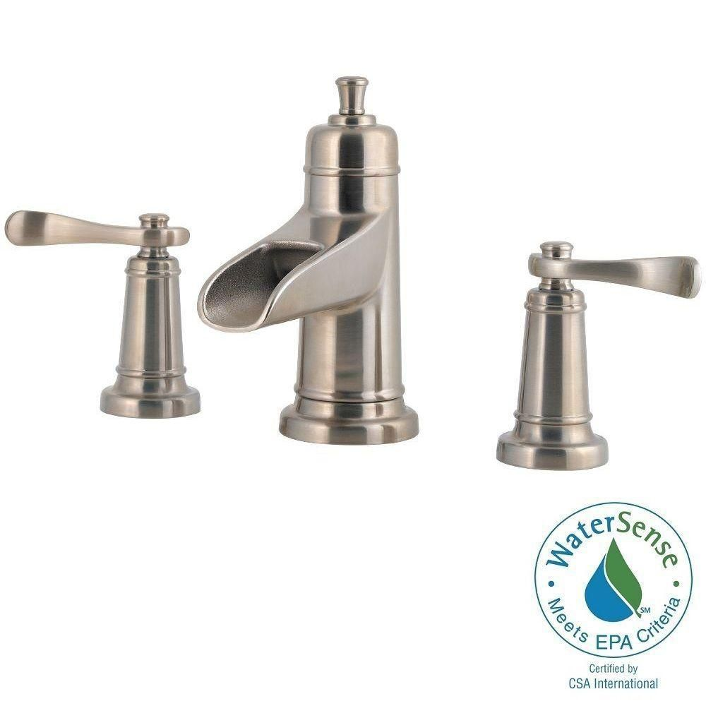 Pfister Ashfield 8 In Widespread 2 Handle Bathroom Faucet In Brushed Nickel Faucet
