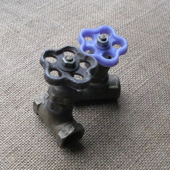 Vintage Brass Water Taps, Vintage Water Valves, Industrial ...