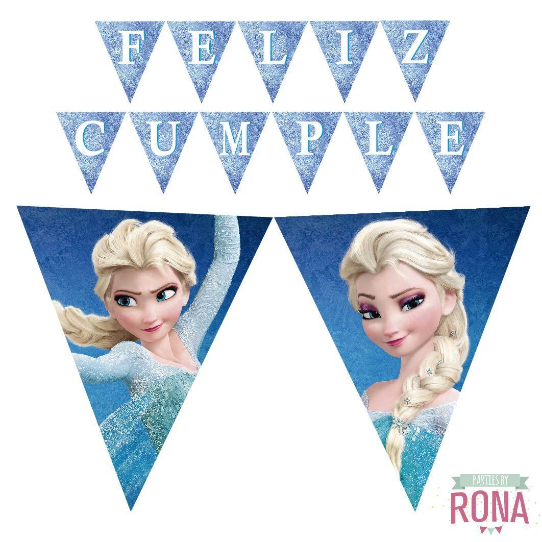 Frozen Birthday Banner Printable Frozen Banner Party By: Frozen Printable Happy Birthday Banner