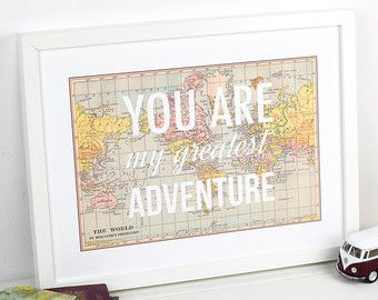 World map poster world map print love quote map by oflifeandlemons world map poster world map print love quote map by oflifeandlemons gumiabroncs Gallery
