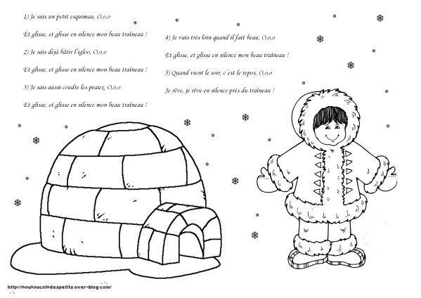 Pour l 39 hiver arktida antarktida pinterest comptine - Esquimau dessin ...