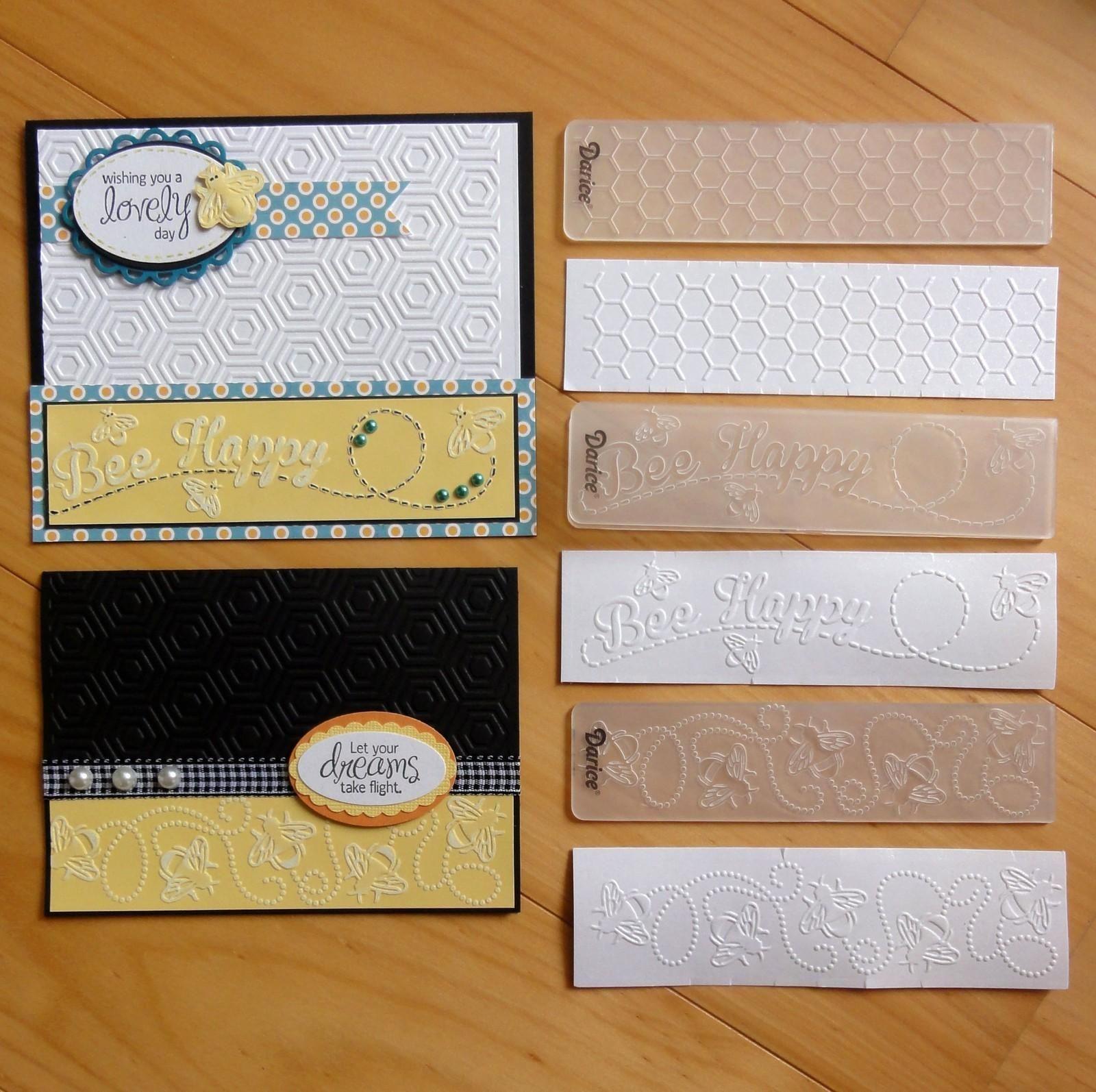 darice embossing folder borders bees 35cm x 145cm free