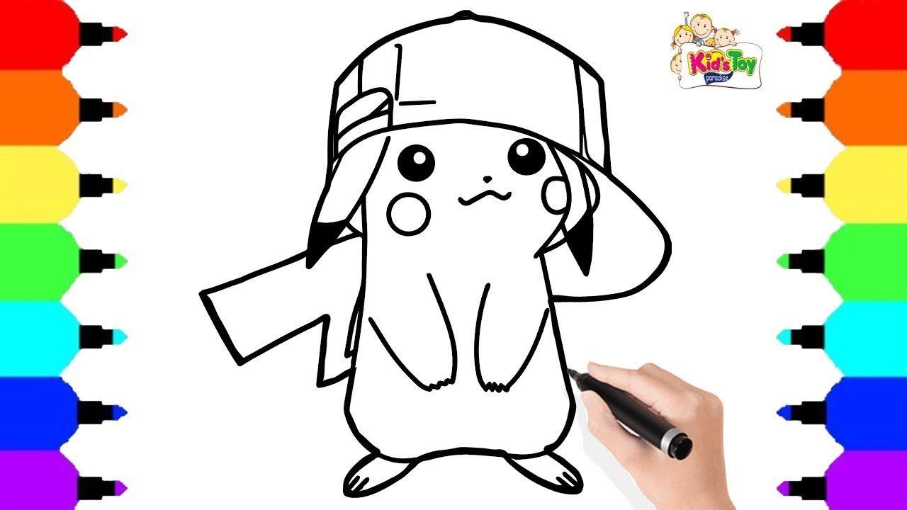Pikachu detective Pokemon Drawing for kids || Kids ...