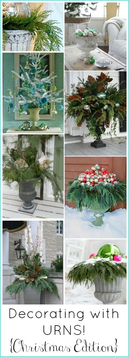 Decorating Front Porch Urns For Christmas Amusing Decorating With Urns Christmas Edition  Urn Curb Appeal And Foxes Inspiration