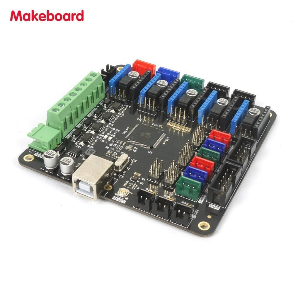 Micromake 3d Printer Parts Makeboard Pro Main Board Ramps14 Geeetech Wiki Support Heatbed Compatible With Ramps 14