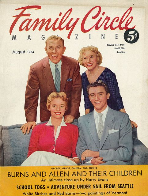 George Burns, Gracie Allen, & Their Children Featured on
