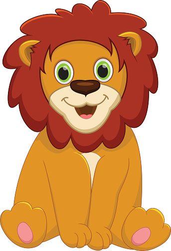 cartoon of a baby lion clip art vector images illustrations rh pinterest ca lion clip art for kids lion clip art pictures