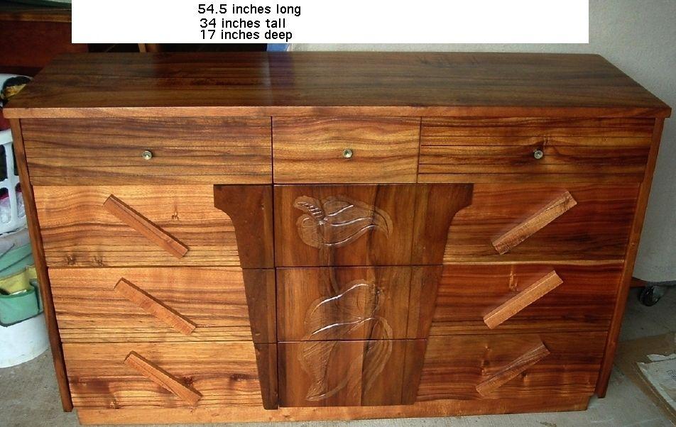 Details About Vintage Koa Headboard For Bed Hawaiian