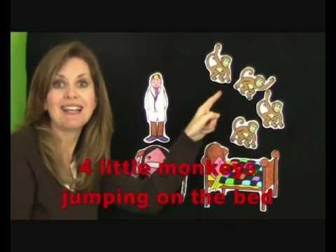 Cinque Scimmiette Saltavano Sul Letto.5 Little Monkeys Jumping On The Bed 5 Scimmiette Saltano Sul Letto