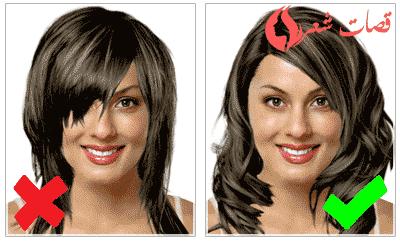 عند إختيار قصات شعر طويل للوجه البيضاوي فكما هو واضح في الصورة علي اليمين من الأنسب عمل شعر مموج يحدد جانبي الوجه هذه التسريحة تعطي م Face Hair Oval Faces Hair