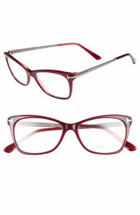 1cfc372e63a Tom Ford 52mm Cat Eye Optical Glasses