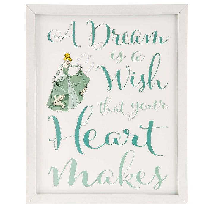 A Dream Is A Wish Your Heart Makes Cinderella Framed Gallery Wall
