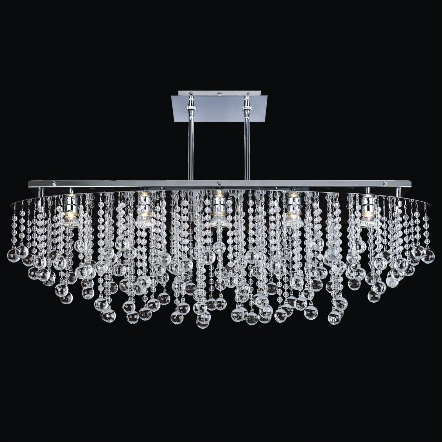 38 W Oval Chandelier Crystal Rain 565 Less Than 60 Watts Indoor