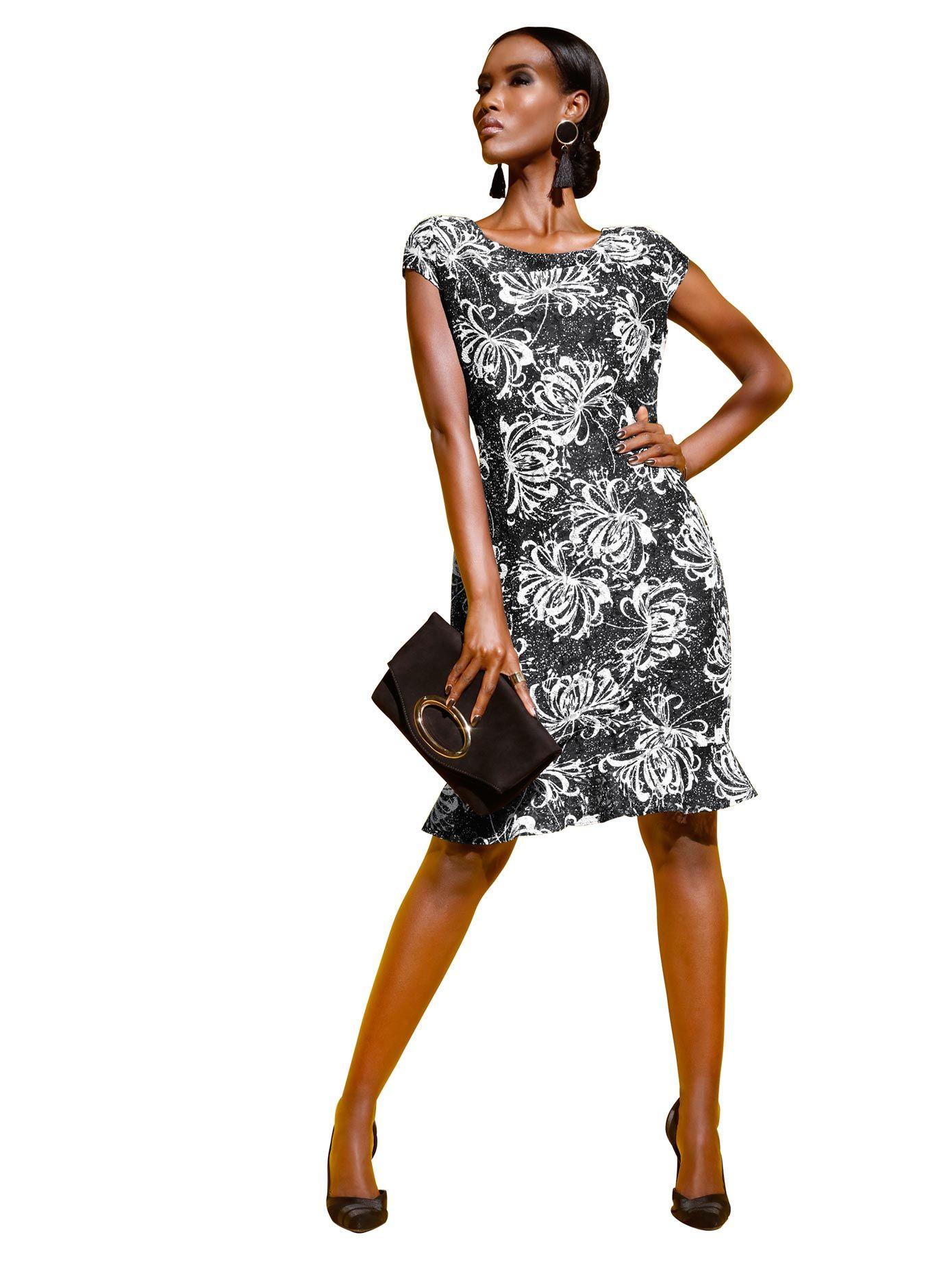 Kleid in schwarz-bedruckt online kaufen  WITT WEIDEN – 13.13