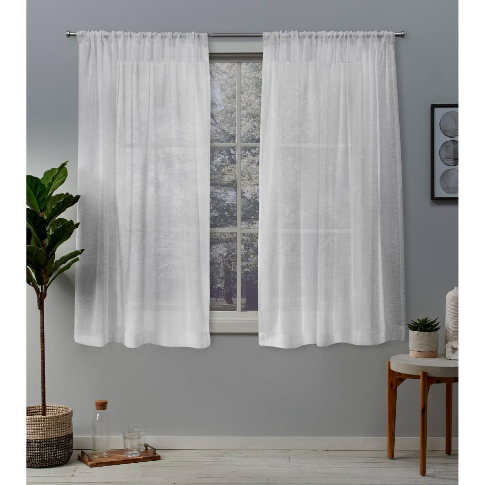 Exclusive Home Curtains Belgian 50 In W X 63 In L Sheer Rod