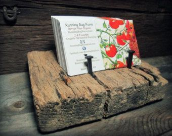 Diy barn wood business card holder rough cut weathered wood diy barn wood business card holder rough cut weathered wood reheart Images