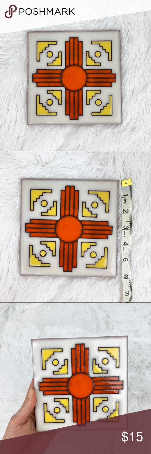 Southwest Tile Trivet Made in Italy in 2020  White