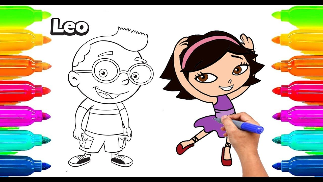 How To Draw Little Einsteins Coloring Book For Kids Learning Paint With Colored Markers If You Like Our Coloring Books Little Einsteins Deer Coloring Pages [ jpg ]