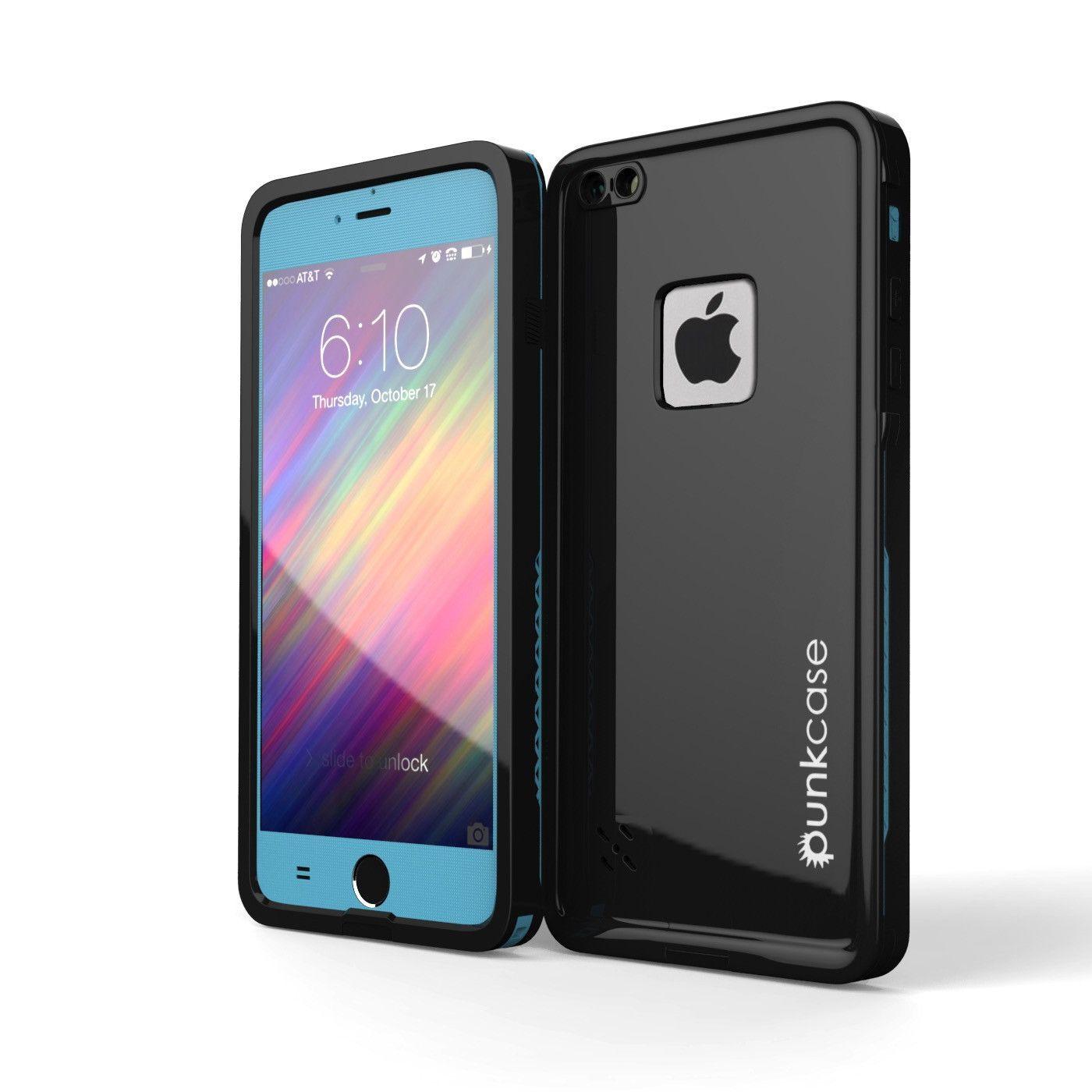 "iPhone 6 Waterproof Case, Punkcase SpikeStar Light Blue Apple iPhone 6 Thin Fit 6.6ft Underwater IP68 Waterproof Case - for iPhone 6 4.7"""" PUNKIP6R003"