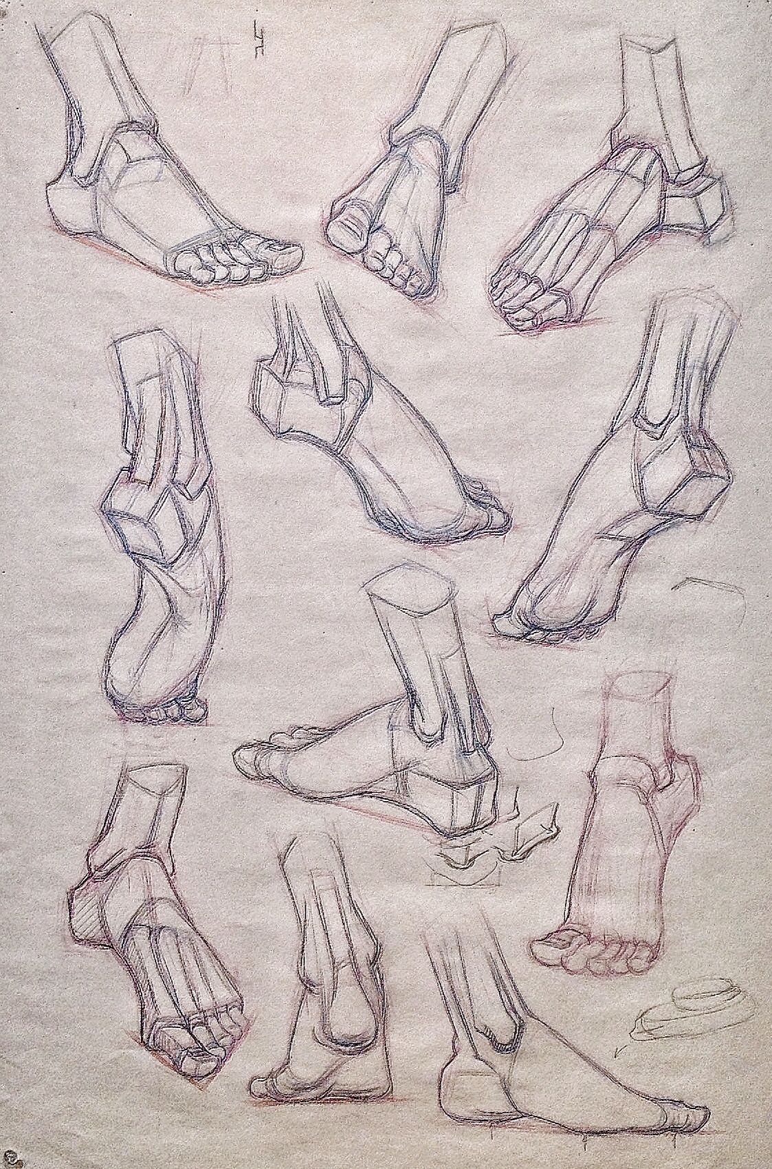 Foot structural drawing for class -Gary Geraths | FIGURE FEET ...