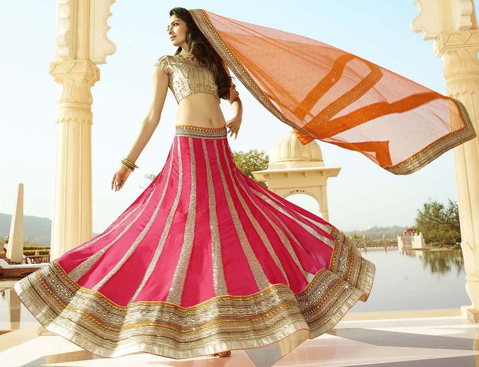 179362: Pink and Majenta color family Bridal Lehenga, Wedding Lehnga .