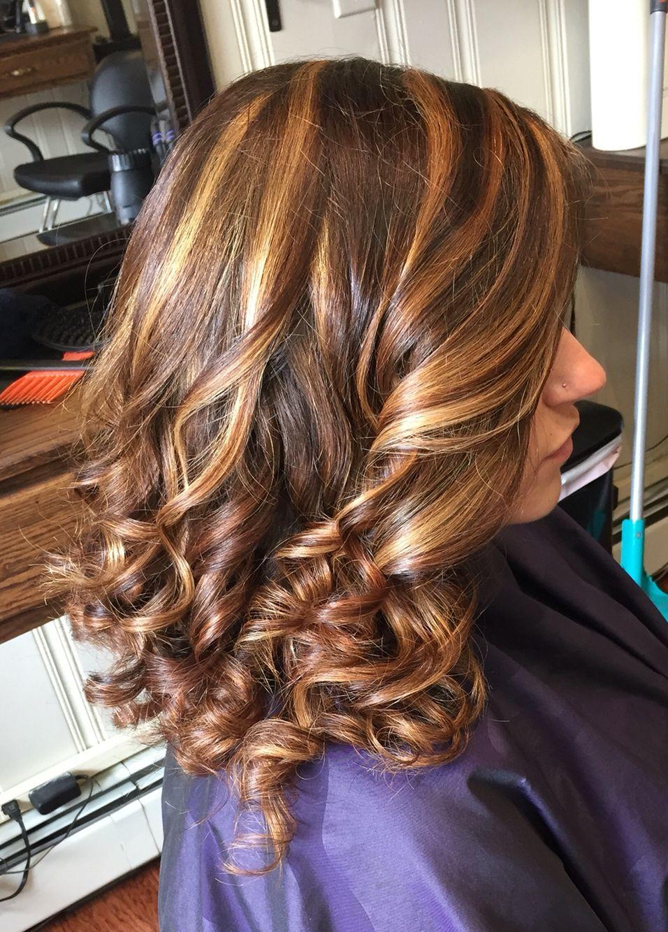 Caramel, blonde, and dark brown hair color   Hair