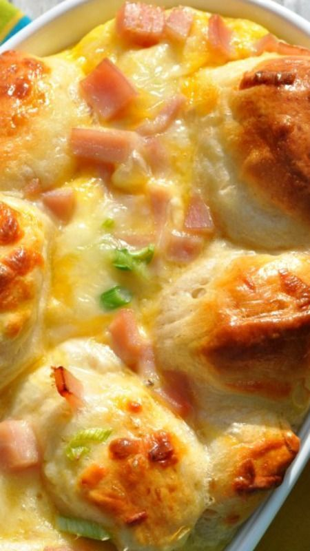 Overnight Ham Egg And Cheese Monkey Bread Recipe Cooking Recipes Food Recipes Breakfast