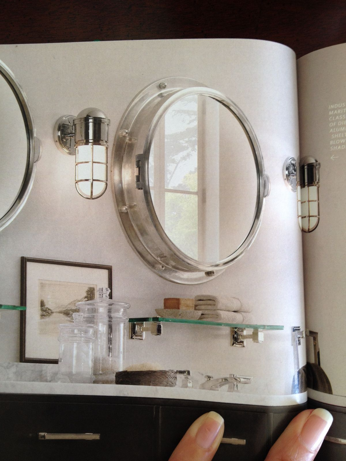 Powder room mirror (With images) | Nautical light fixtures ...