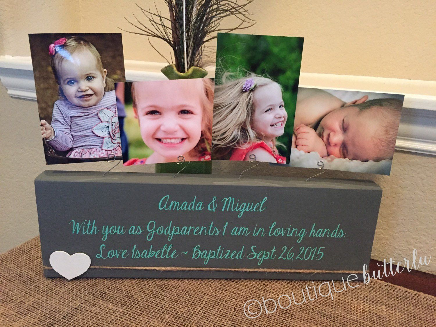 Gift for godparents personalized picture frame gift for baptism gift for godparents personalized picture frame gift for baptism birthday godmother godfather godchild custom made quote jeuxipadfo Image collections