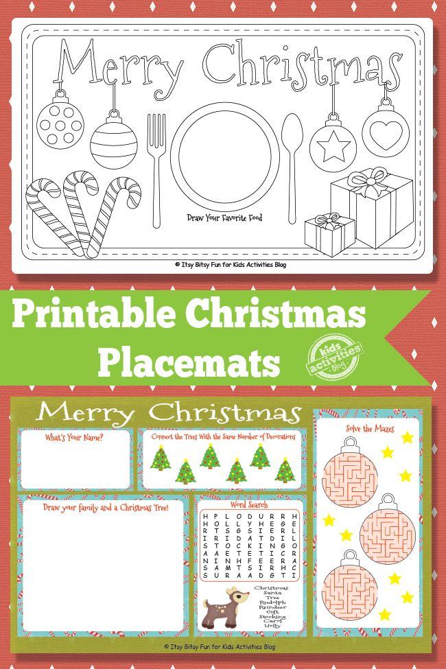Printable Christmas Placemats Jpg 650 975 Pixels Christmas Placemats Kids Christmas Printables Free Kids