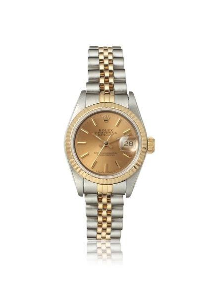 Rolex Women's Datejust Champagne Index Stainless Steel Watch at MYHABIT