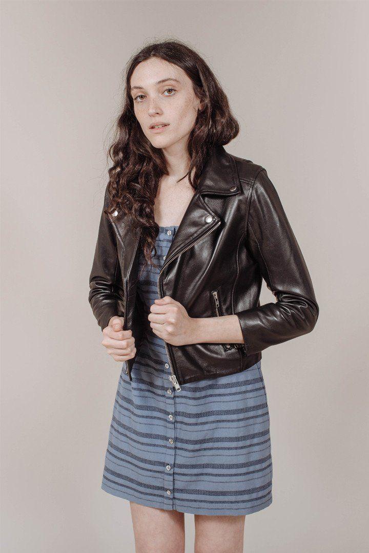 47892772 Passion Biker Jacket in Black by Ganni | WM CLOTHING | Jackets ...