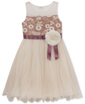 5a9e2d15421 Rare Editions Floral Embroidered Dress