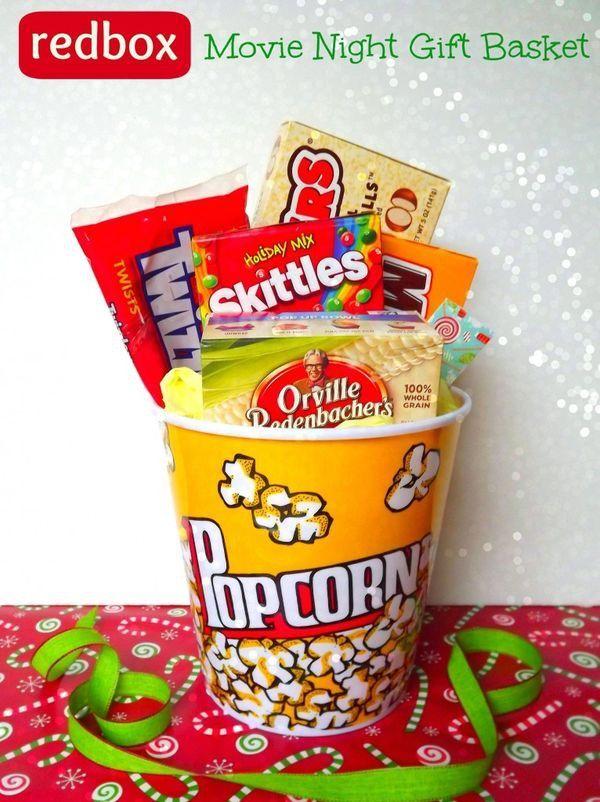 Raffle prize ideas Baby stuff Movie night gift basket, Diy gift