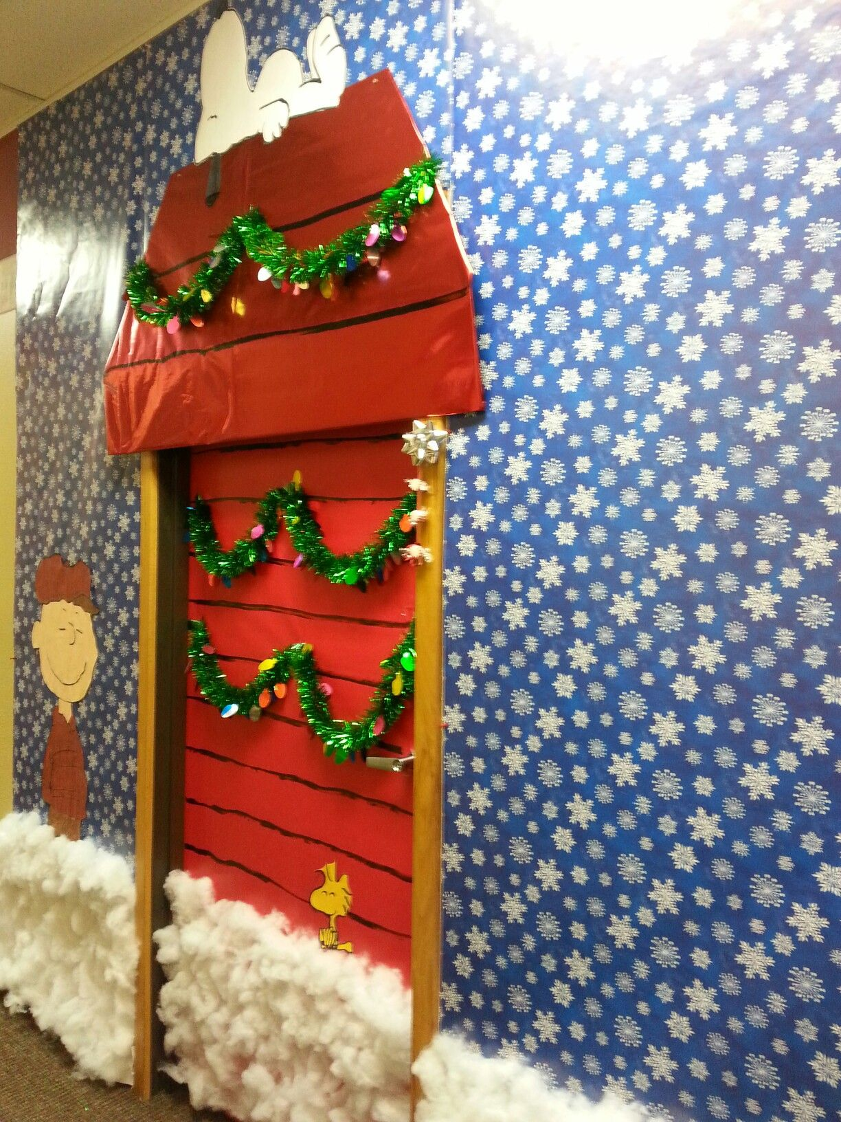 Office door decorating contest # snoopy #charliebrown # ...