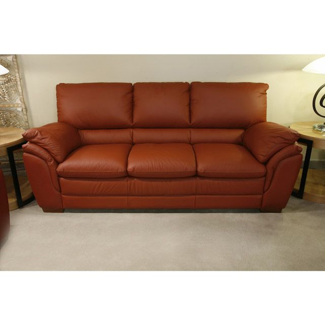 Bernie And Phyls Leather Sofa
