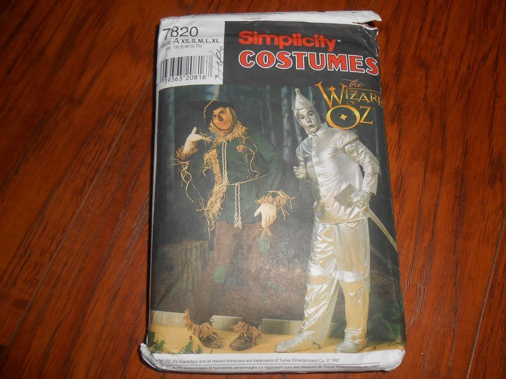 Wizard of Oz Costume Sewing Pattern Simplicity 7820 Tin Man ...