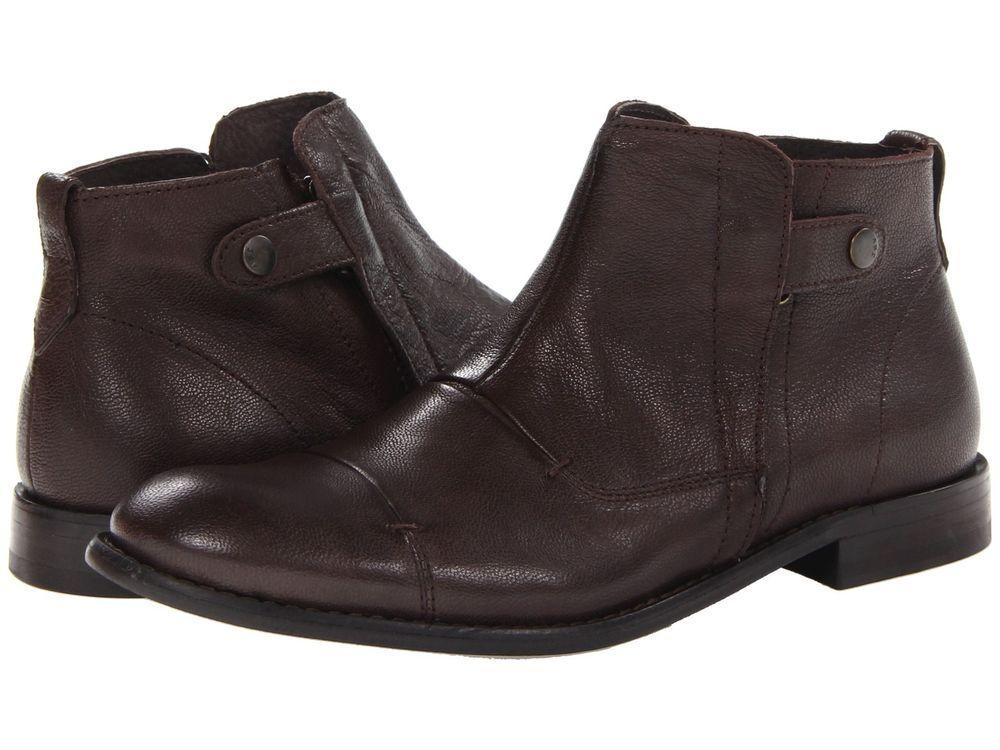 NWB John Varvatos Men's Side Zip Boot All Sizes MSRP $298.00 Dark Brown #JohnVarvatos #AnkleBoots