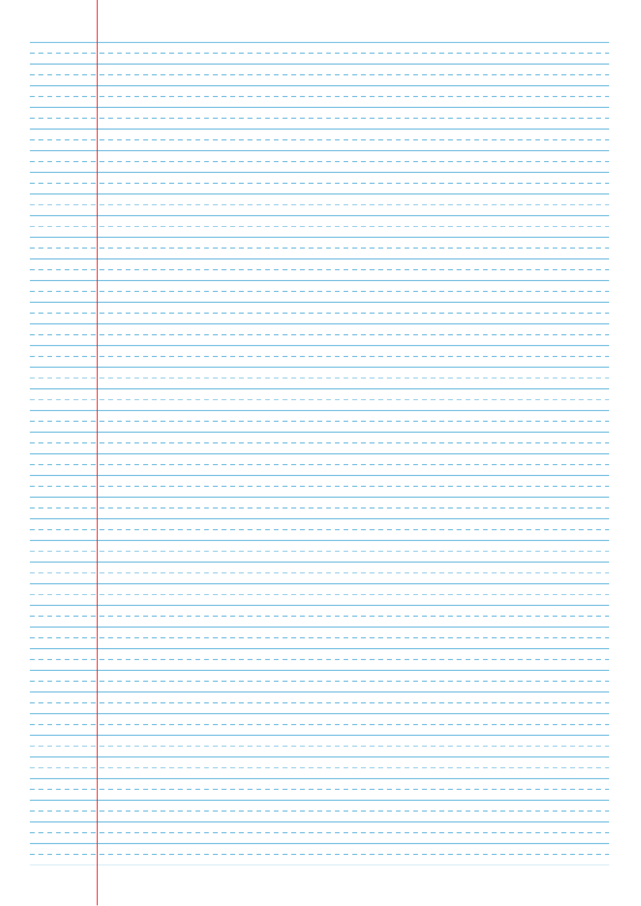 Printable College Ruled With Dashed Center Guide Line Blue Lines Pdf Download College Rule Printable Lined Paper Ruled Paper
