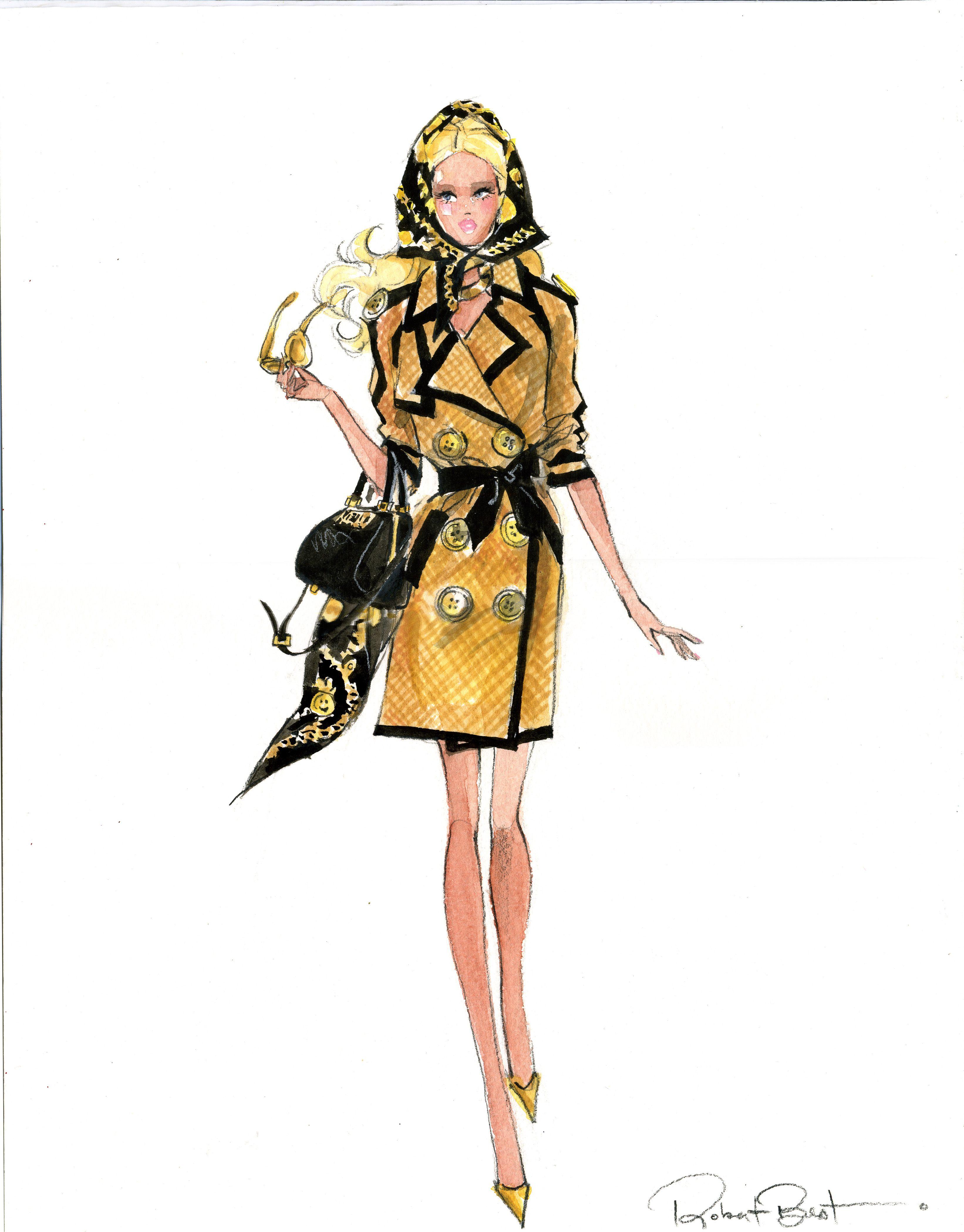 Moschino Barbie Illustration By Robert Best Barbie En 2019