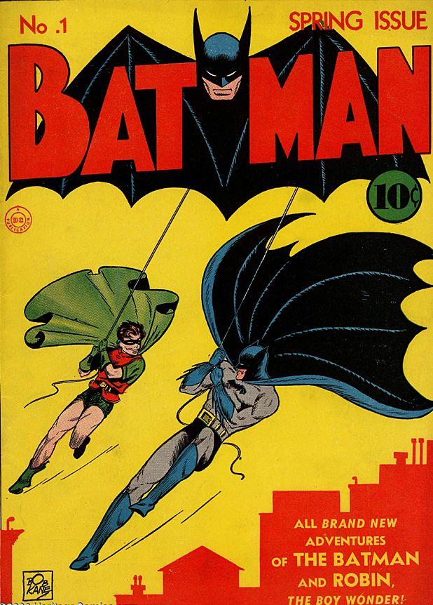 Comic Book Hero Vintage Tin Metal Sign Magnet USA BATMAN THE DARK KNIGHT