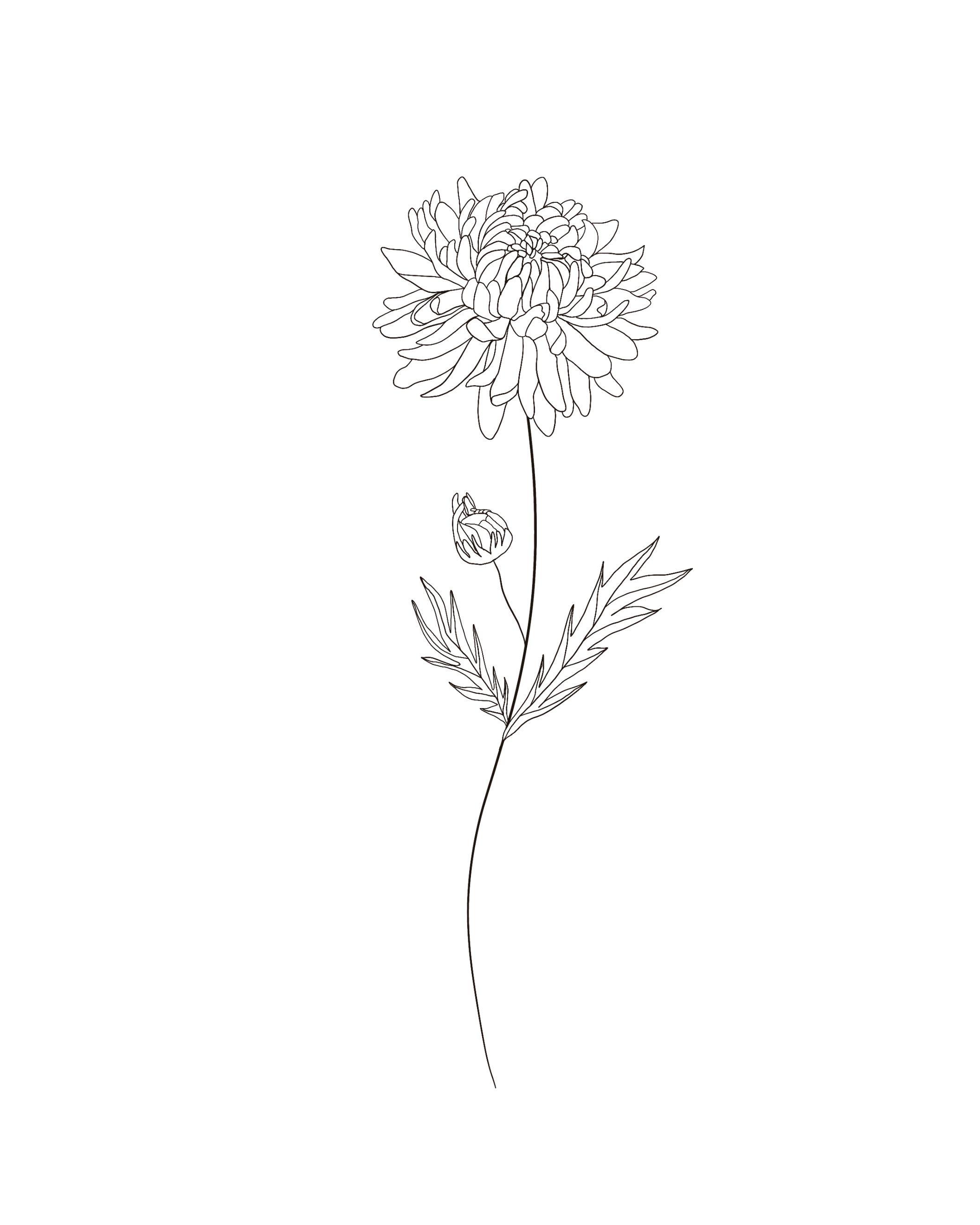 Birth Month Flowers Chrysanthemum November In 2020 Body Art Tattoos Birth Month Flowers Tattoos