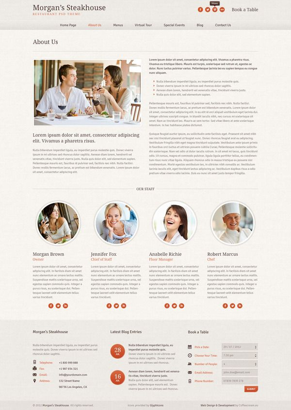 Morgan's Steakhouse on Web Design Served