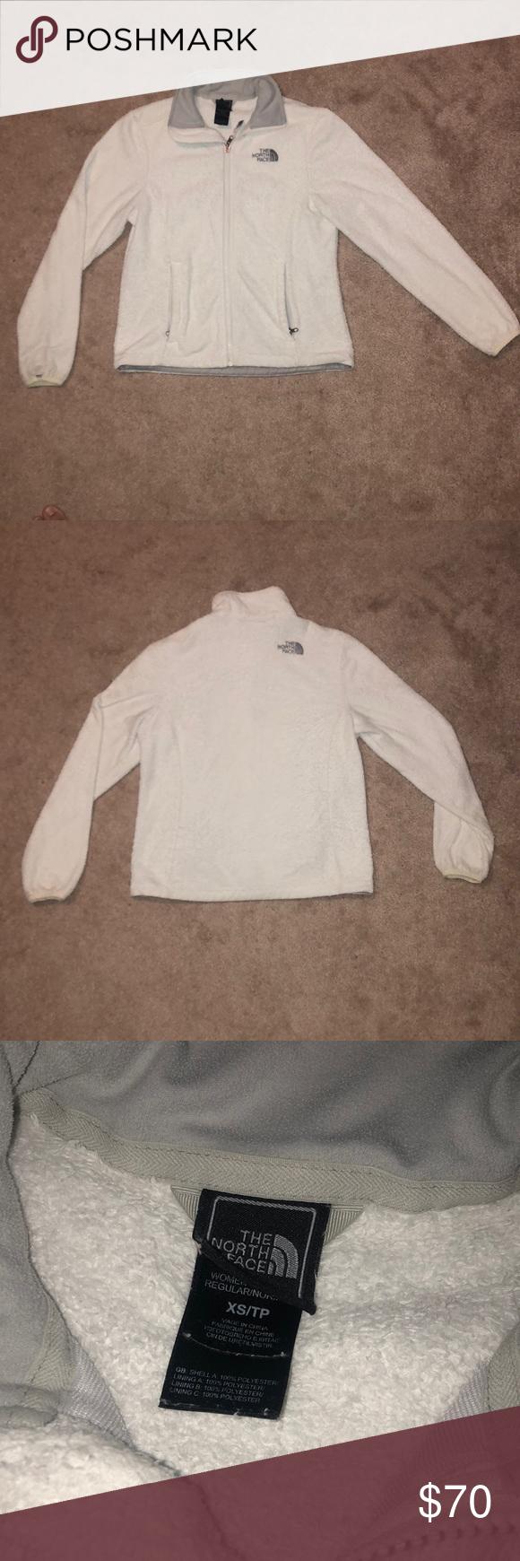 The north face white fleece jacket my posh picks pinterest