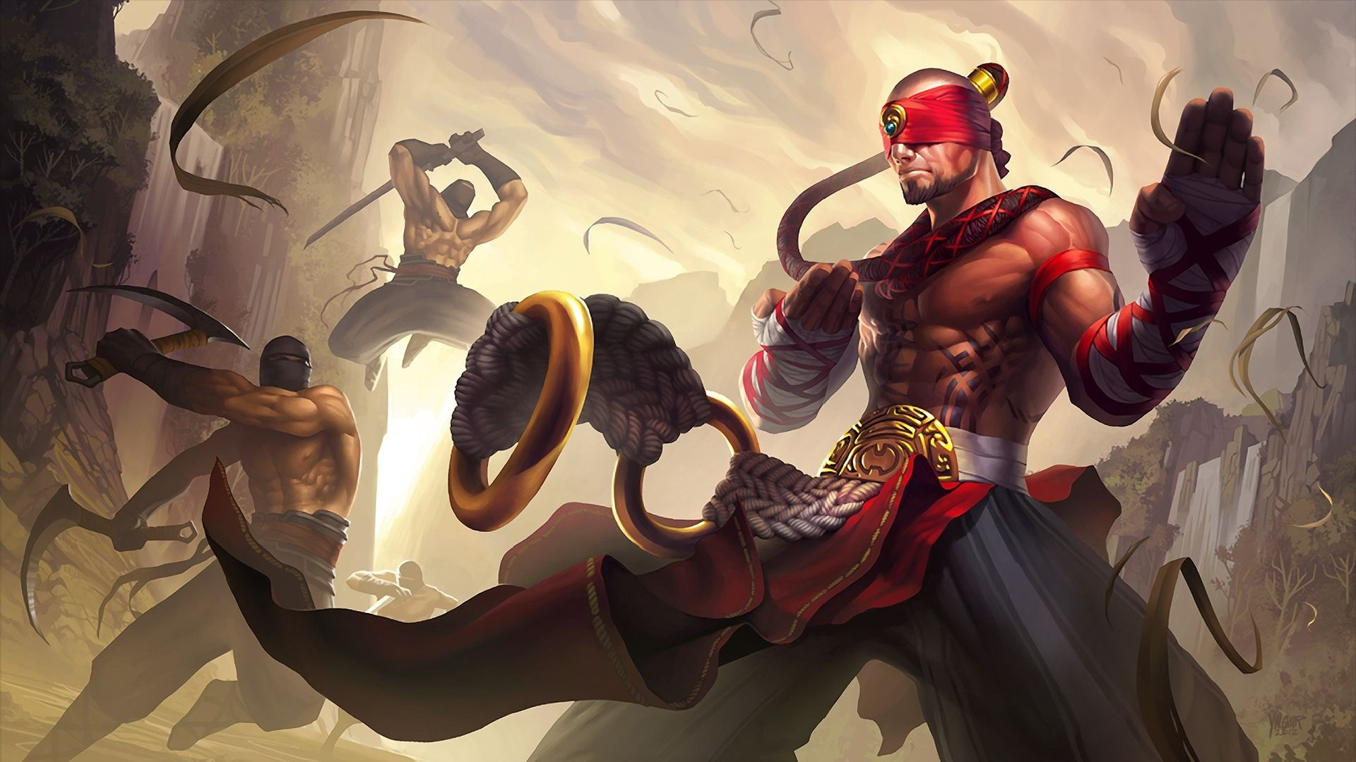 Video Game League Of Legends Lee Sin League Of Legends Papel De