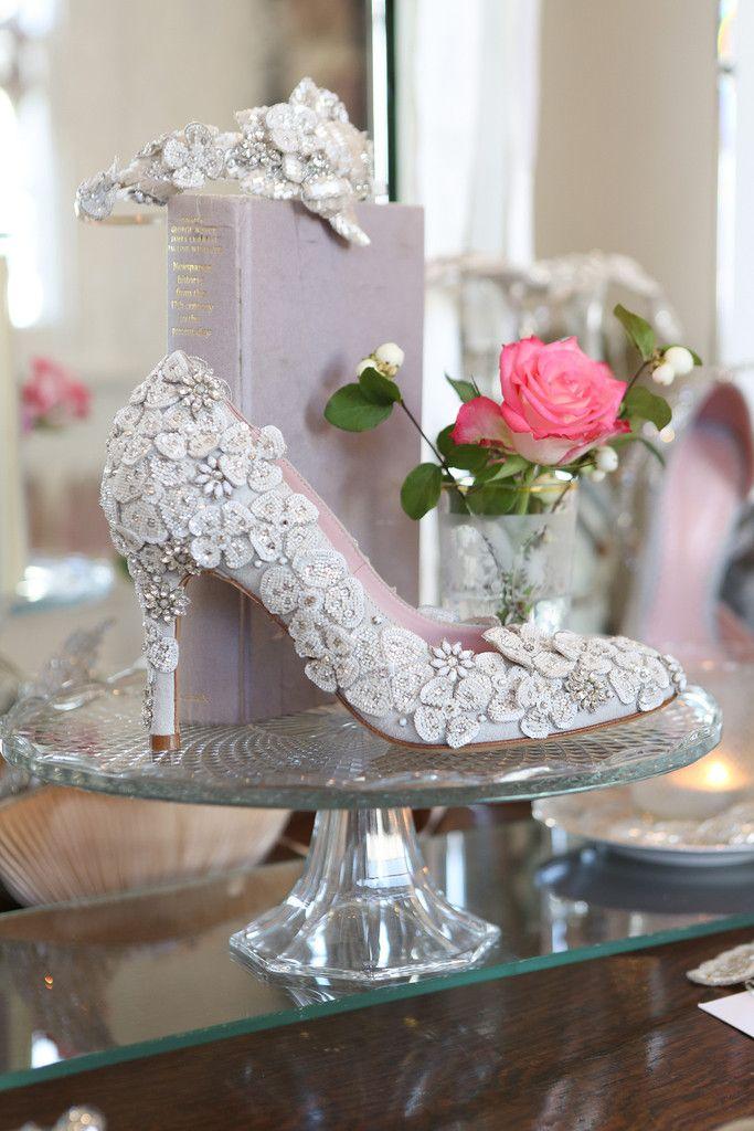 Petal Cluster Emmy Beautiful Bespoke Wedding Shoes Bridal