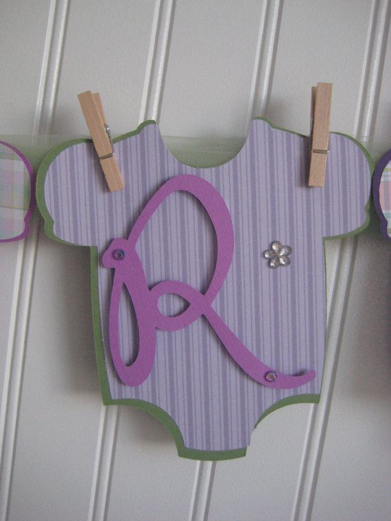 Baby Shower Banner Baby Girl Its A Girl Purple By Onecutenursery